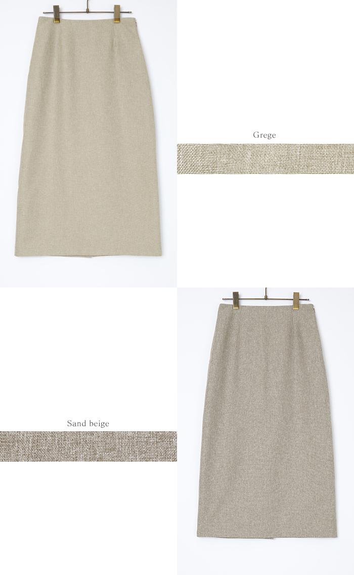 リネンライクタイトスカート12