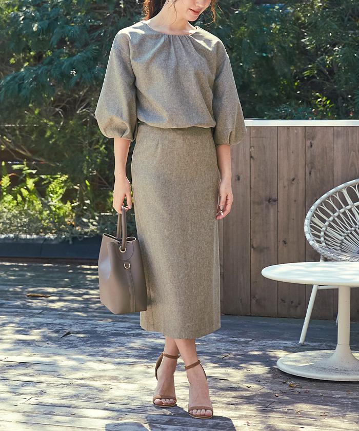 リネンライクタイトスカート4