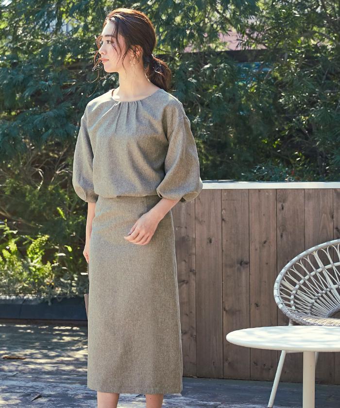 リネンライクタイトスカート5