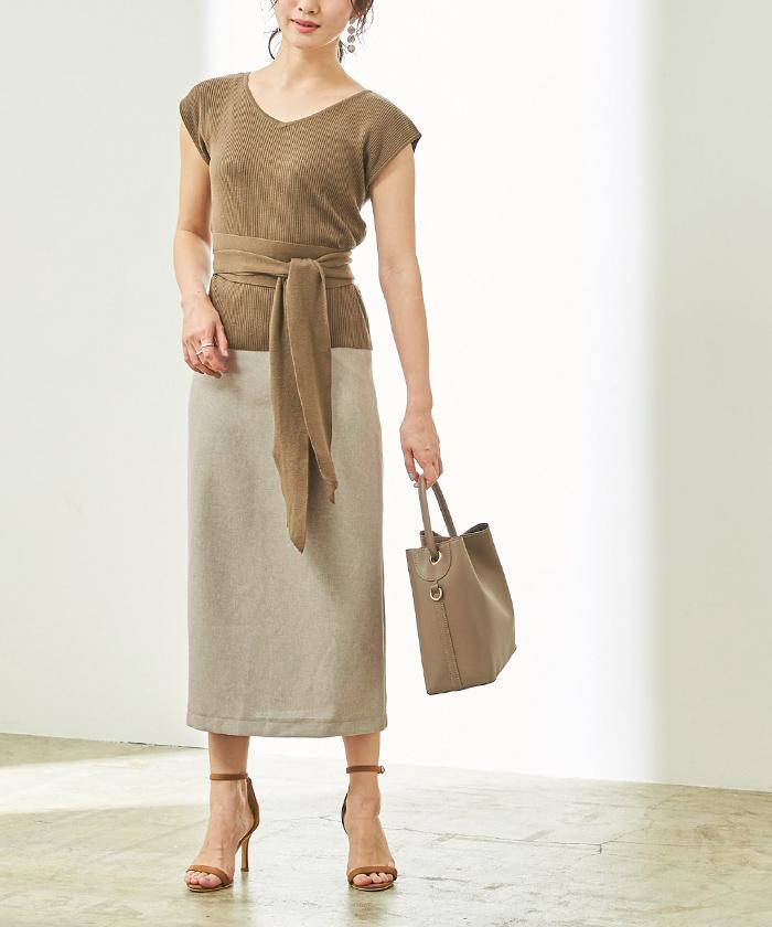 リネンライクタイトスカート7