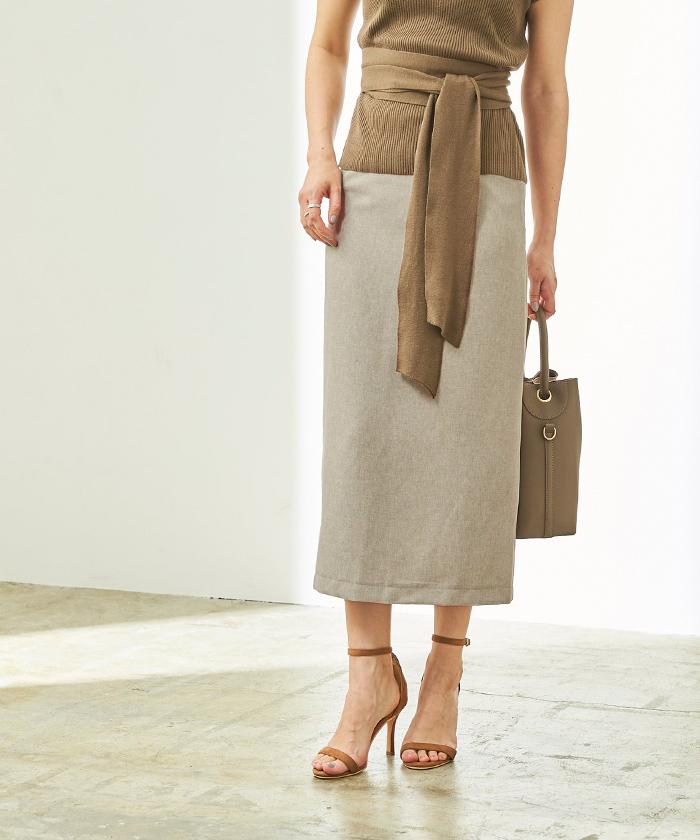 リネンライクタイトスカート8