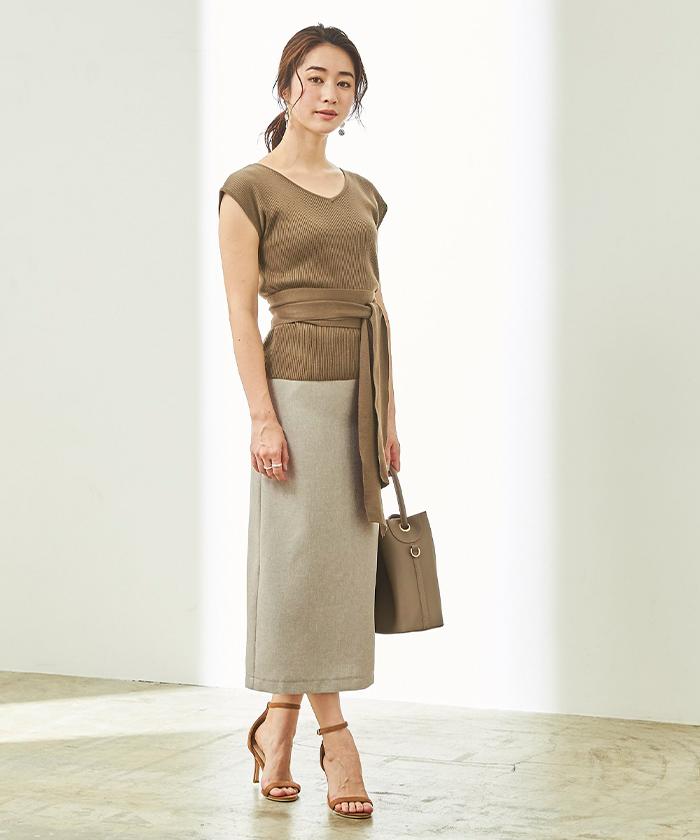リネンライクタイトスカート9