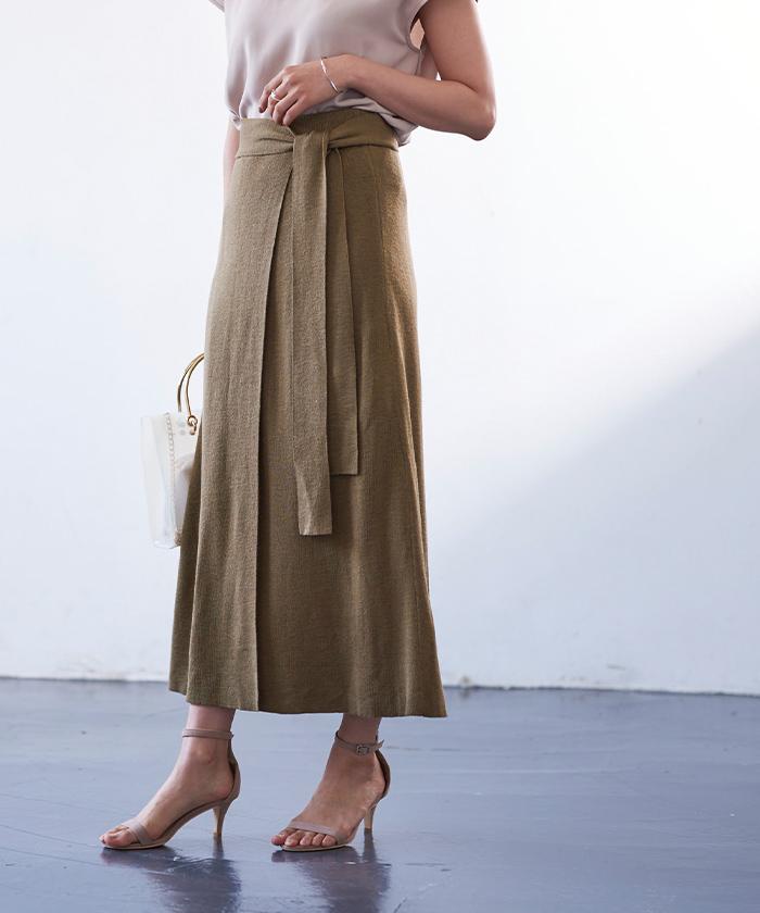 サマーニットラップスカート2