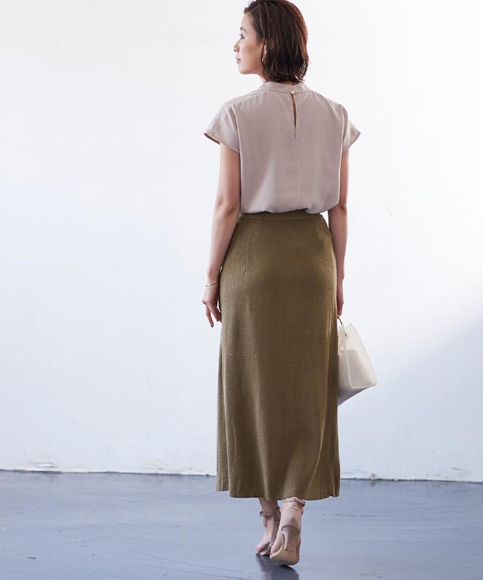 サマーニットラップスカート3