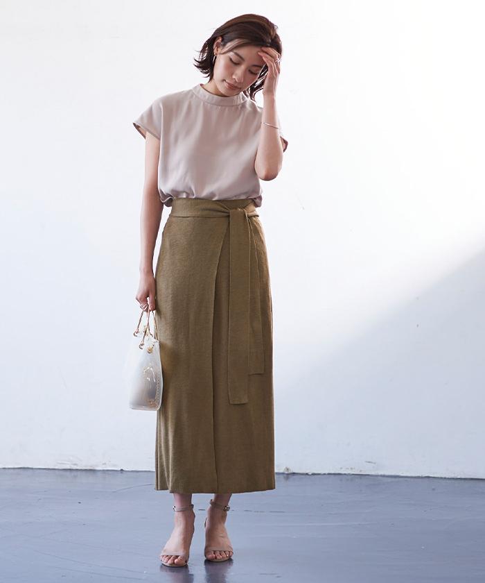 サマーニットラップスカート4