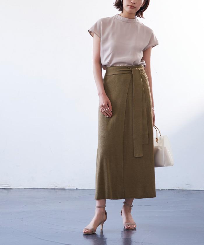 サマーニットラップスカート5