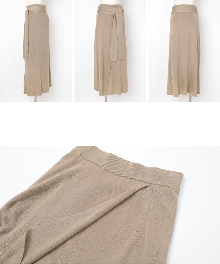 サマーニットラップスカート14