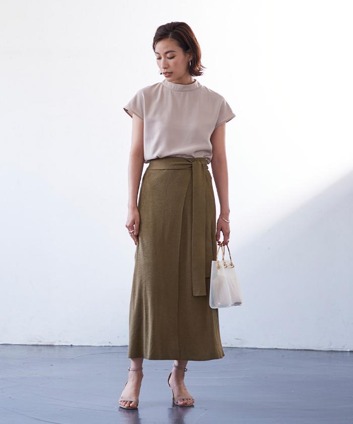 サマーニットラップスカート1