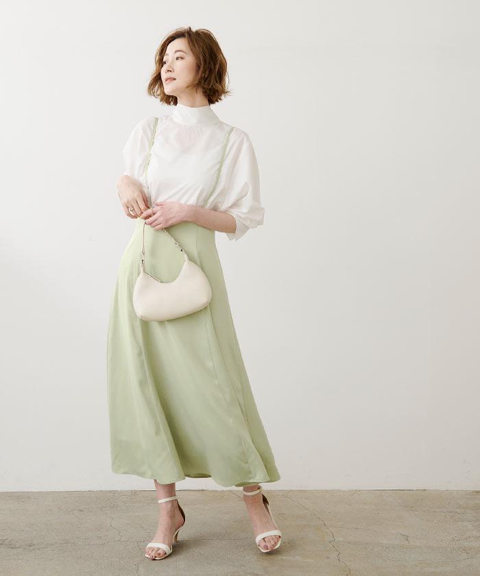 フレアサロペットスカート2