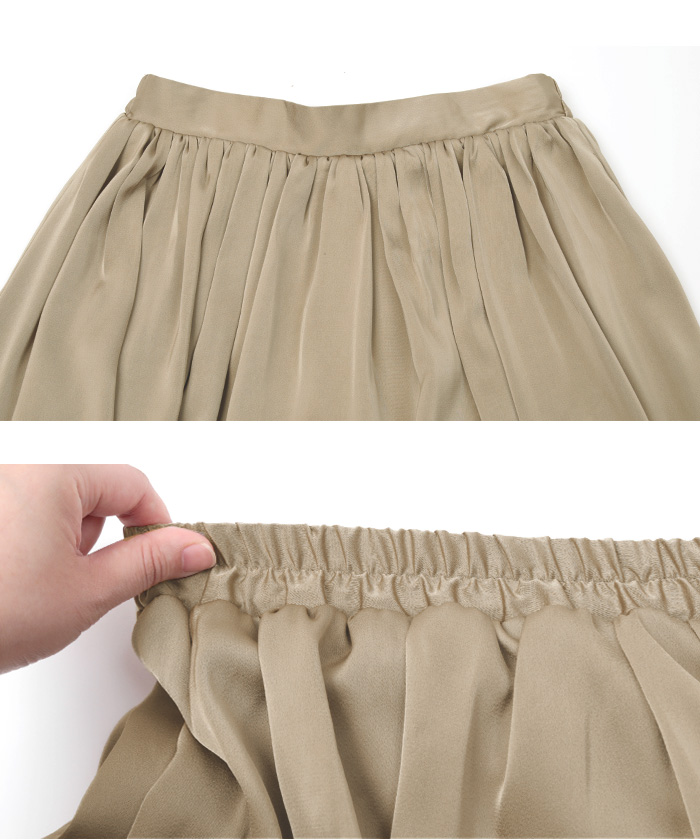 サテンギャザースカート15