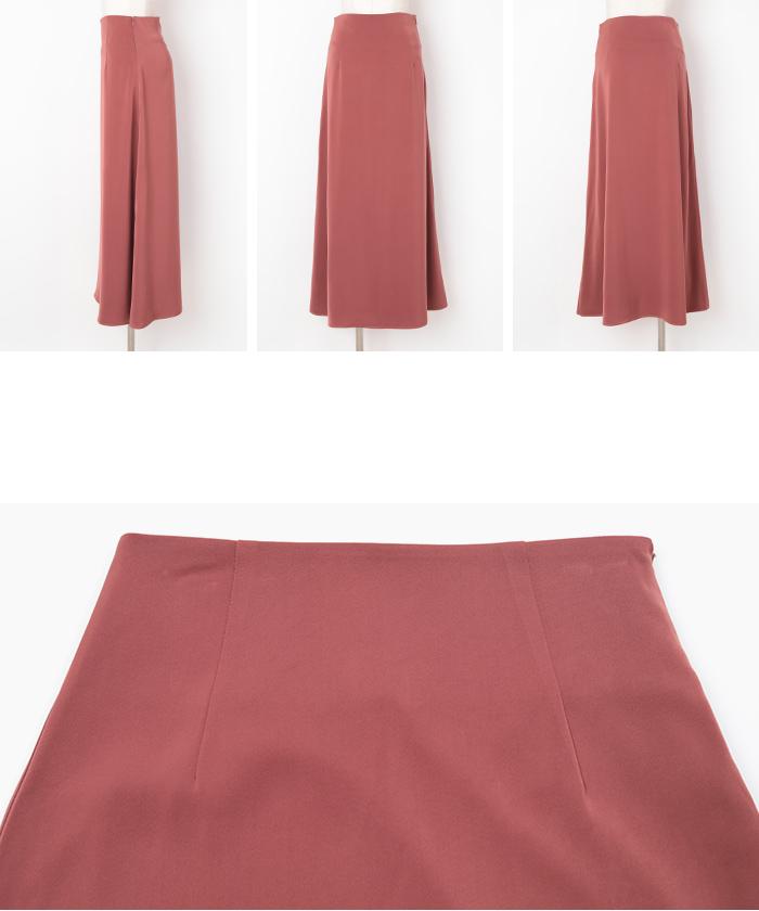サテンセミフレアスカート14