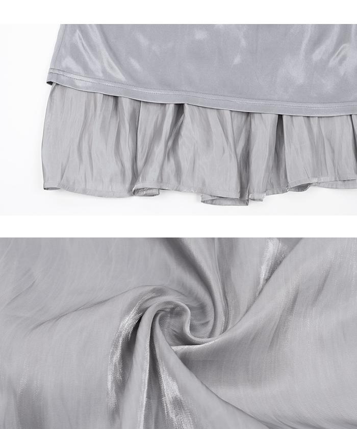 サテン消しプリーツスカート16