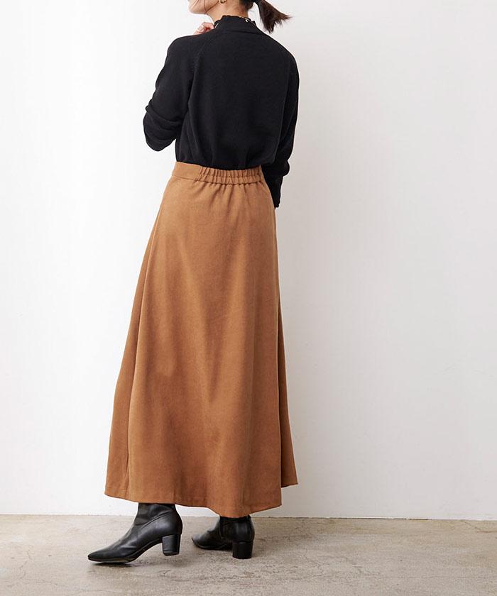 フェイクスエードレザーパイピングスカート5