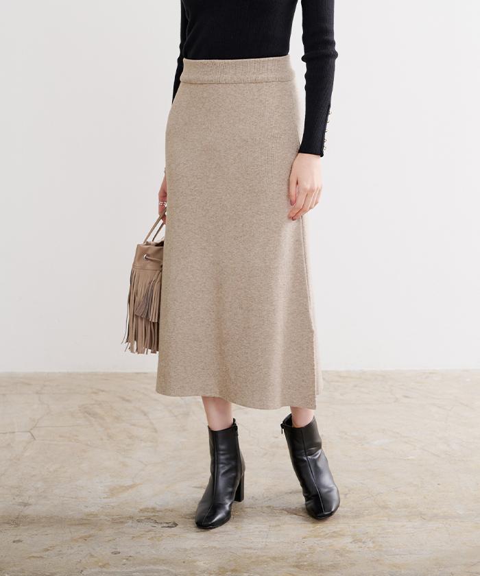 サイドスリットニットスカート5