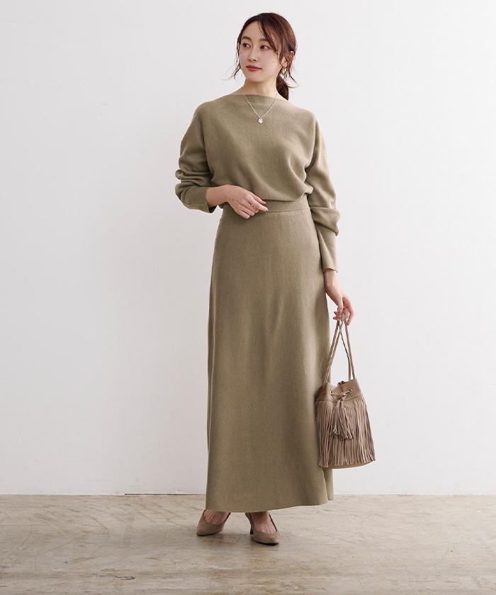 ドルマンニット×スカートセットアップ5