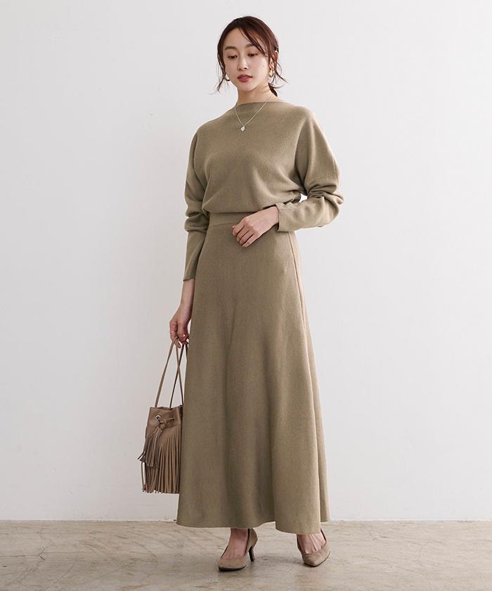 ドルマンニット×スカートセットアップ1