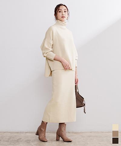 ドルマンニット×タイトスカートセットアップ