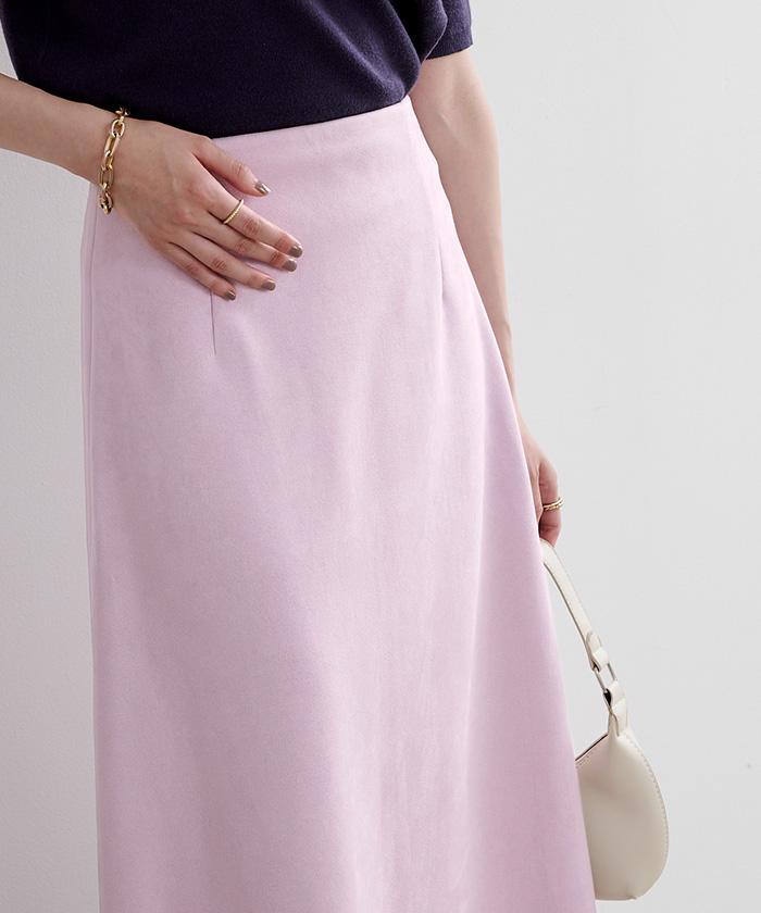 フェイクスエードセミフレアタイトスカート5