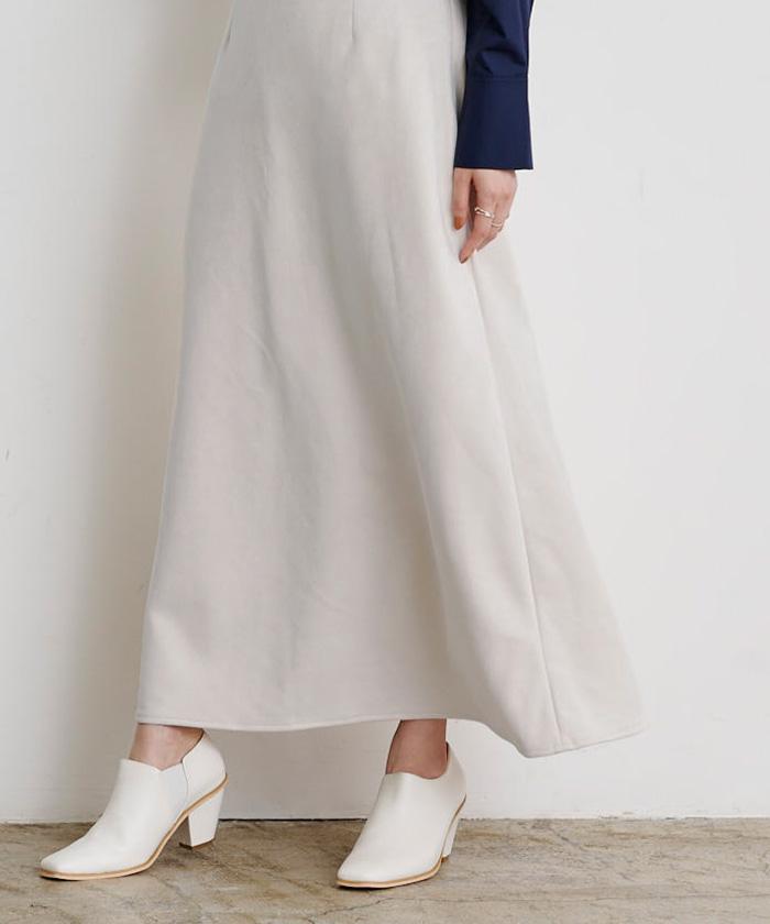 フェイクスエードセミフレアタイトスカート9