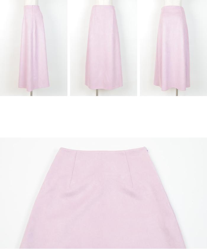 フェイクスエードセミフレアタイトスカート14