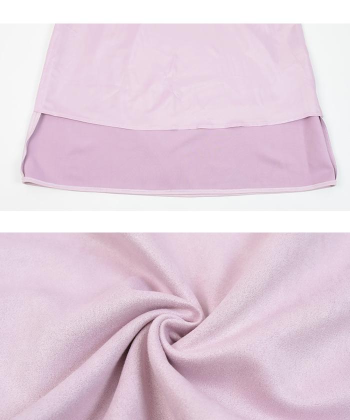 フェイクスエードセミフレアタイトスカート16