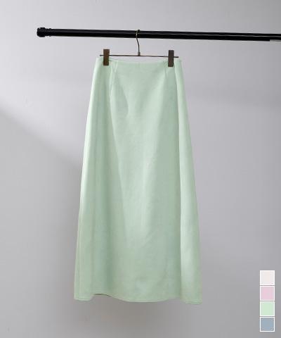 フェイクスエードセミフレアタイトスカート