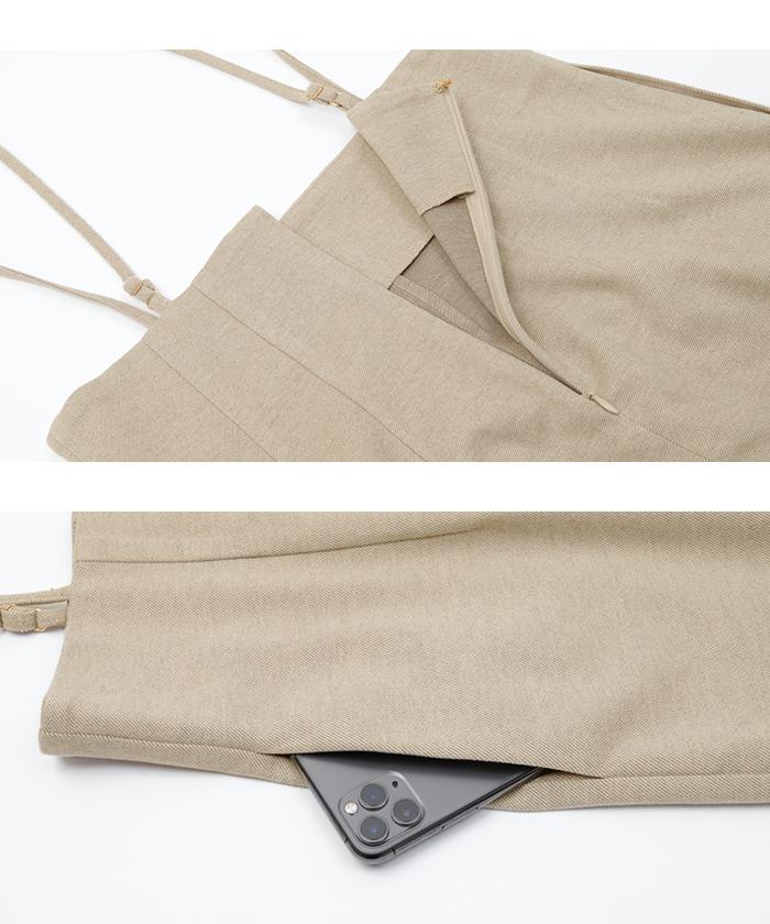 ウールライクサロペットタイトスカート15
