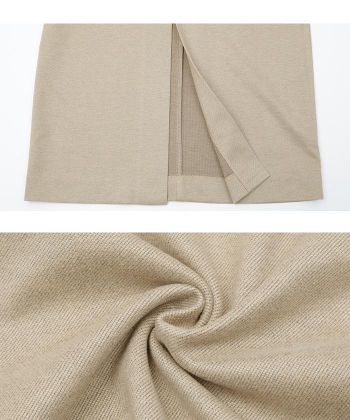 ウールライクサロペットタイトスカート16