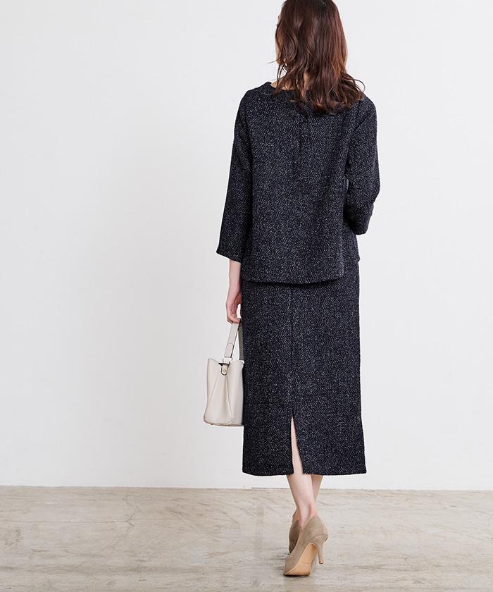 ツイードタイトスカート3