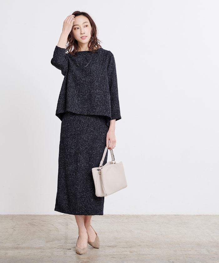 ツイードタイトスカート5