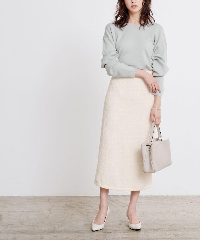 ツイードタイトスカート10
