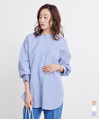 バックタックチュニックシャツ【メール便可/100】