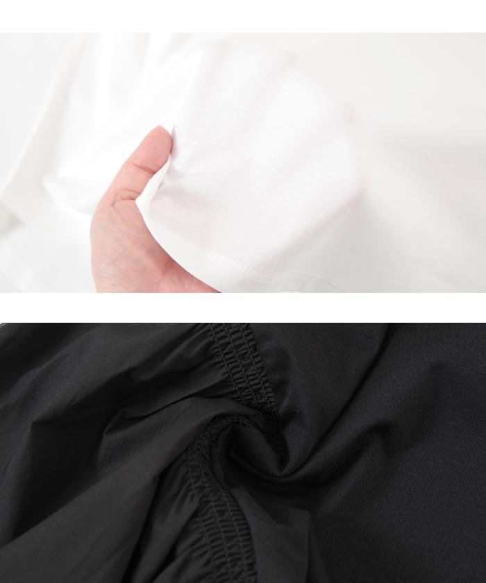シルケット袖ボリューム切替プルオーバー16
