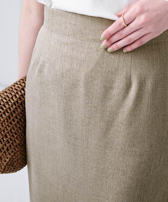 リネンライクロングタイトスカート7