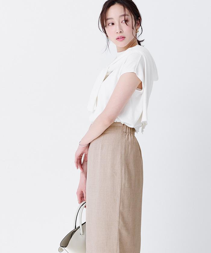 リネンライクロングタイトスカート11