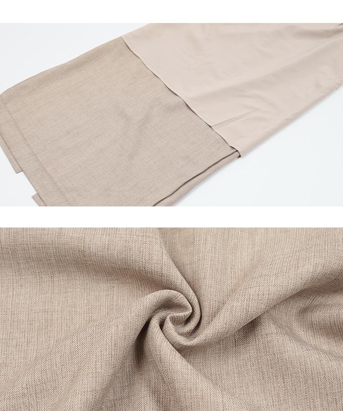 リネンライクロングタイトスカート16
