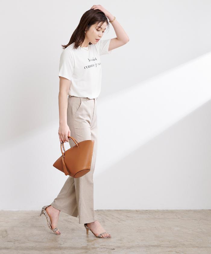 ロゴプリントTシャツ4