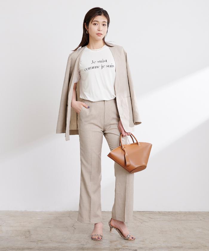 ロゴプリントTシャツ1