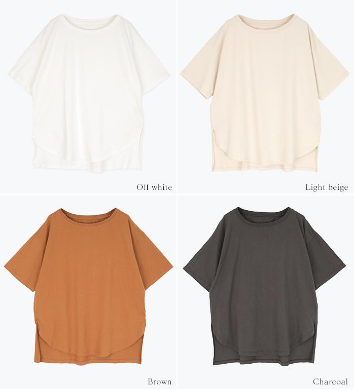 オーガニックコットンヘムデザインTシャツ13