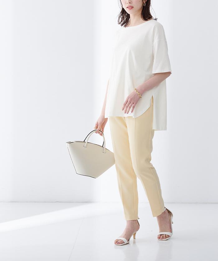 オーガニックコットンヘムデザインTシャツ6