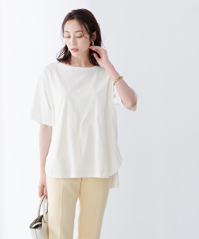 オーガニックコットンヘムデザインTシャツ7