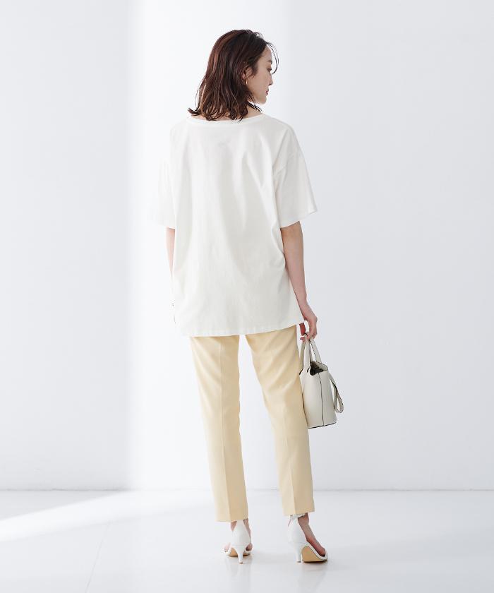 オーガニックコットンヘムデザインTシャツ8