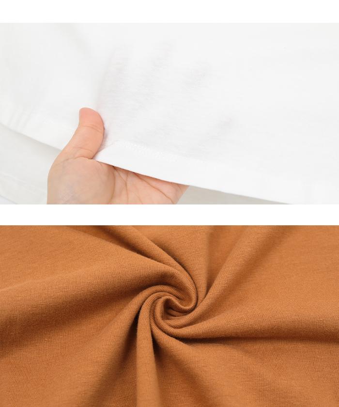 オーガニックコットンヘムデザインTシャツ16
