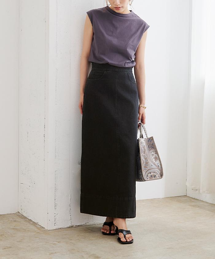 デニムタイトスカート6