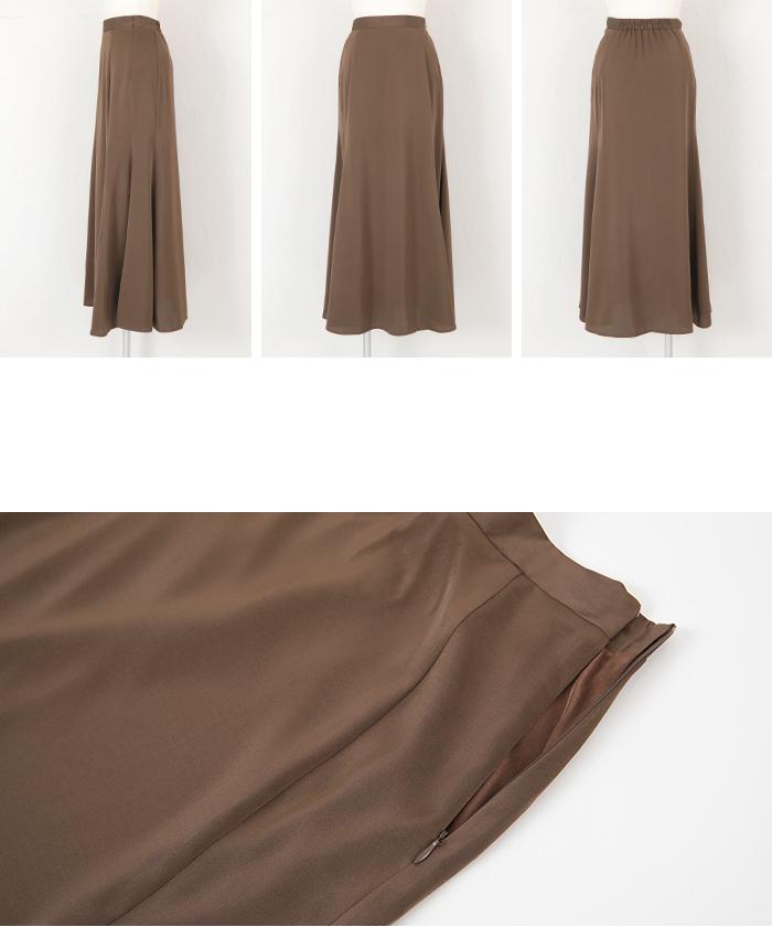 サテンマーメイドフレアスカート14