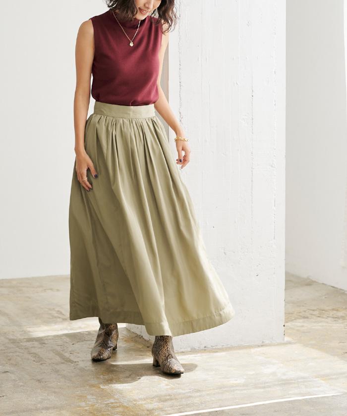 タフタギャザースカート5