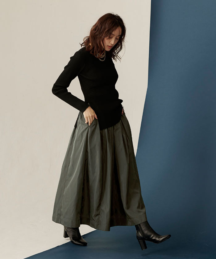 タフタギャザースカート1