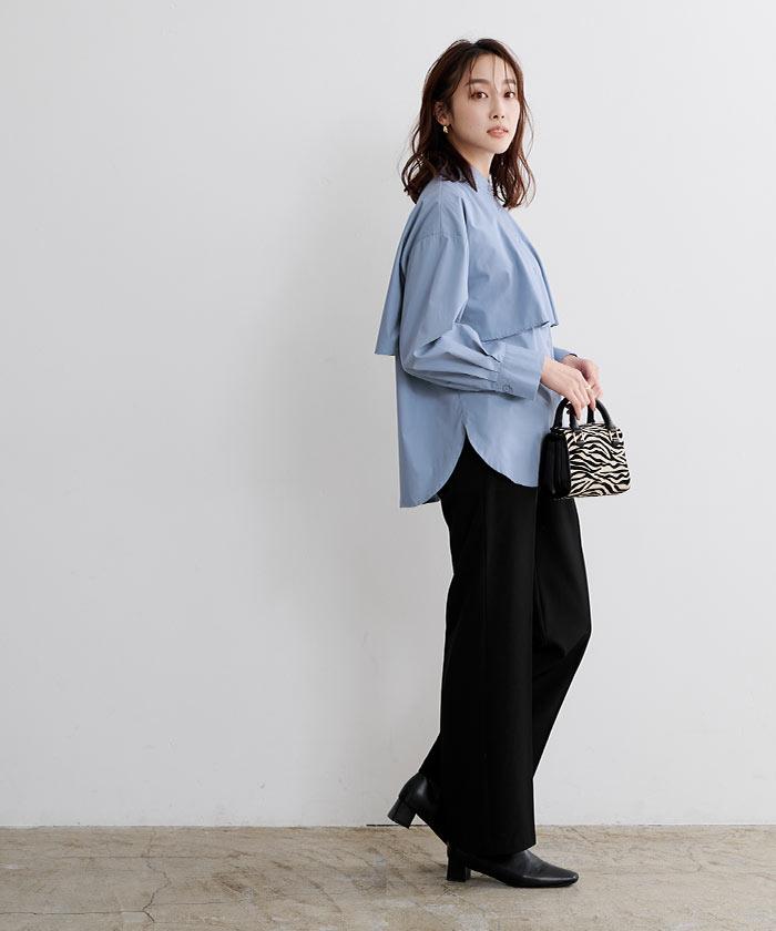 レイヤードシャツブラウス9