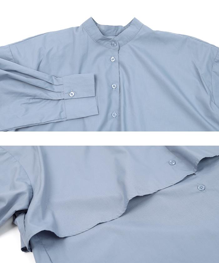 レイヤードシャツブラウス15