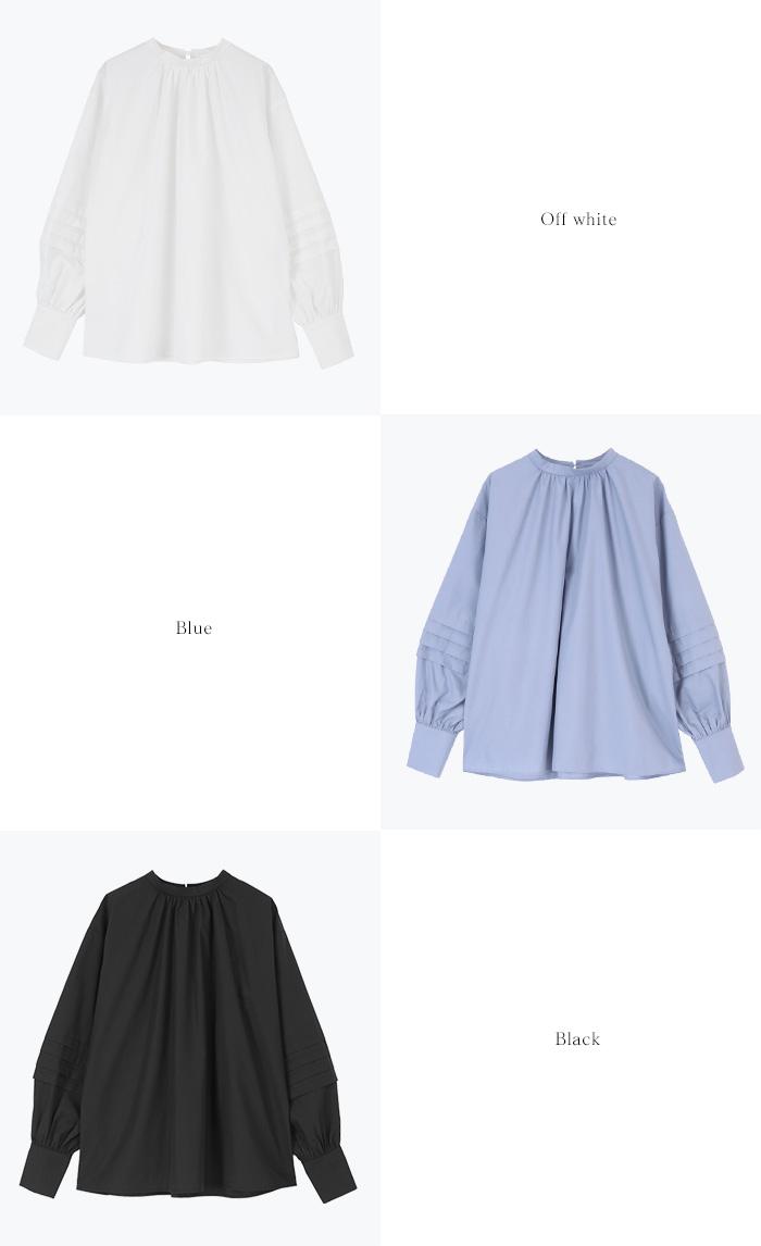 タックスリーブバンドカラーシャツ13